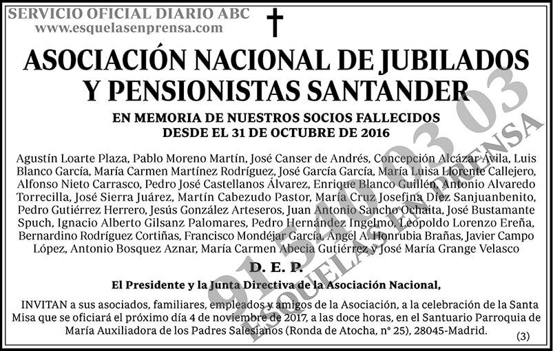 Asociación Nacional de Jubilados y Pensionistas Santander